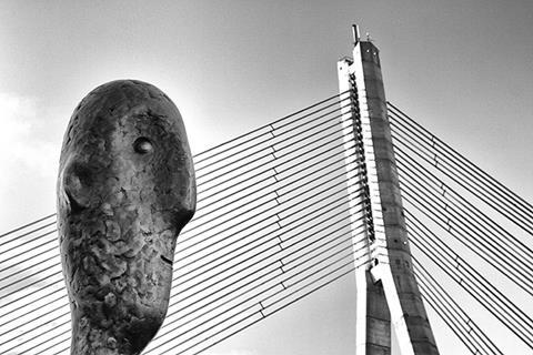 He and the Bridge by Oleg Dashkov